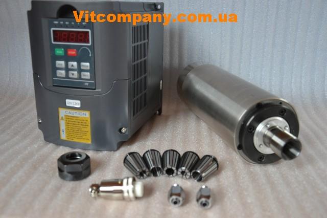 HF фрезерный шпиндель 2.2 кВт с водяным охлаждением комплект  новый