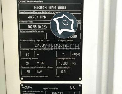 5-осевой обрабатывающий центр с ЧПУ Mikron HPM 800 U