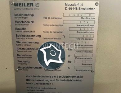 Циклический станок токарный с ЧПУ WEILER E 50/1