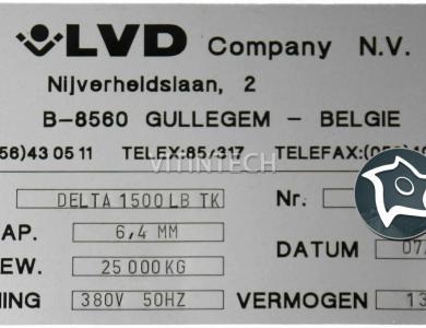 Координатно-пробивной пресс с ЧПУ LVD DELTA 1500 LB TK