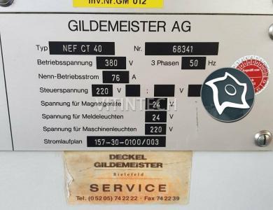 Токарный станок с ЧПУ Gildemeister CT 40