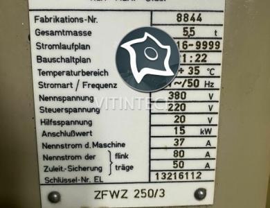 Зубофрезерный вертикальный станок WMW MODUL ZFWZ 250-3